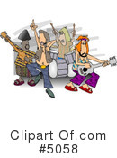 Royalty-Free (RF) Music Clipart Illustration #5058