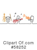 Royalty-Free (RF) Music Clipart Illustration #58252