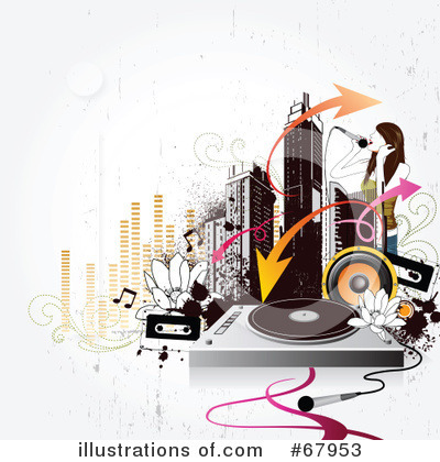 Record Player Clipart #67953 by OnFocusMedia