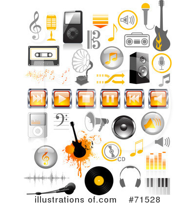 Microphone Clipart #71502 - Illustration by Anja Kaiser