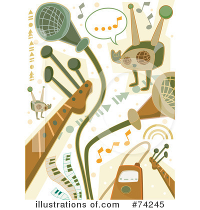 Microphone Clipart #74370 - Illustration by BNP Design Studio
