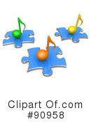 Royalty-Free (RF) Music Clipart Illustration #90958