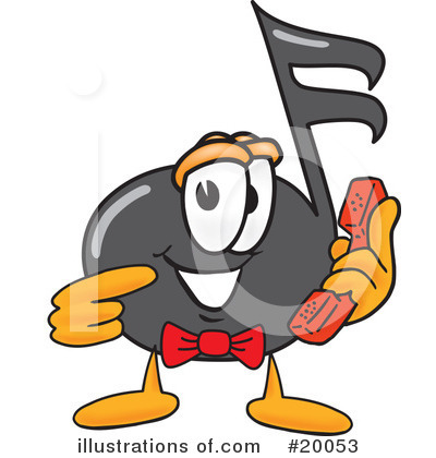 Music Note Character Clipart #20053 by Toons4Biz