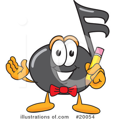 Music Note Character Clipart #20054 by Toons4Biz