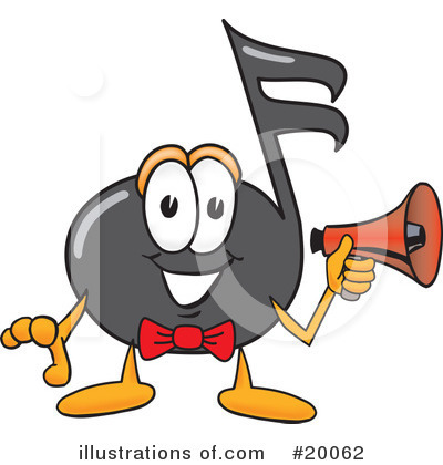 Music Note Character Clipart #20062 by Toons4Biz