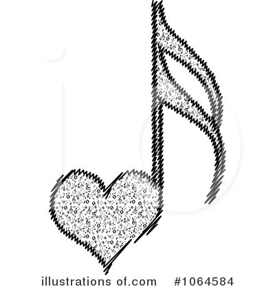 Royalty-Free (RF) Music Note Clipart Illustration by Andrei Marincas - Stock Sample #1064584