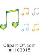 Royalty-Free (RF) Music Note Clipart Illustration #1103015