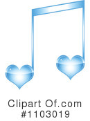Royalty-Free (RF) Music Note Clipart Illustration #1103019