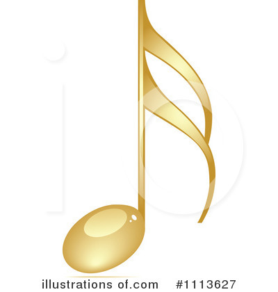 Royalty-Free (RF) Music Note Clipart Illustration by Andrei Marincas - Stock Sample #1113627