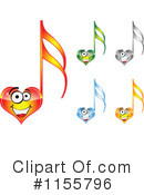 Royalty-Free (RF) Music Note Clipart Illustration #1155796