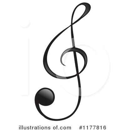 Royalty-Free (RF) Music Note Clipart Illustration by Graphics RF - Stock Sample #1177816