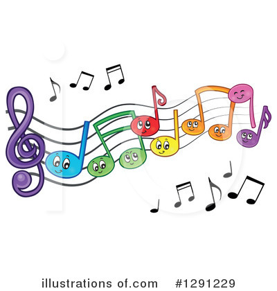 Music Note Character Clipart #1291229 by visekart