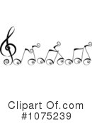 Music Notes Clipart #1075239 by BNP Design Studio