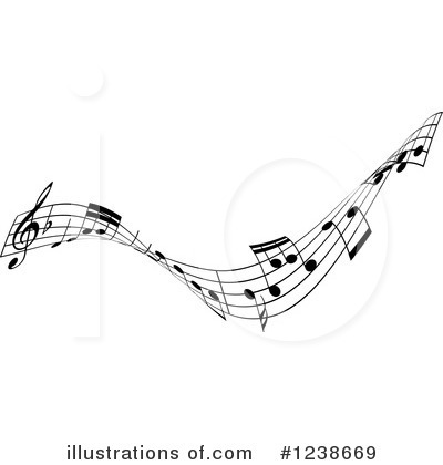 Music Notes Clipart #1238669 by KJ Pargeter