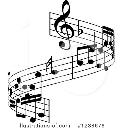 Royalty-Free (RF) Music Notes Clipart Illustration by KJ Pargeter - Stock Sample #1238676