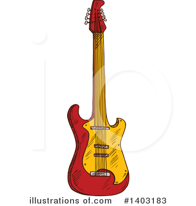 Guitar Clipart #1403183 by Vector Tradition SM