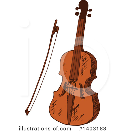 Violin Clipart #1403188 by Vector Tradition SM