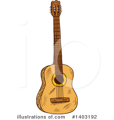 Guitar Clipart #1403192 by Vector Tradition SM
