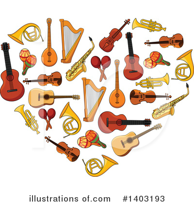 Violin Clipart #1403193 by Vector Tradition SM