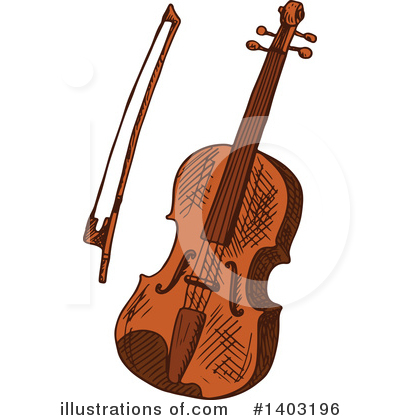 Violin Clipart #1403196 by Vector Tradition SM
