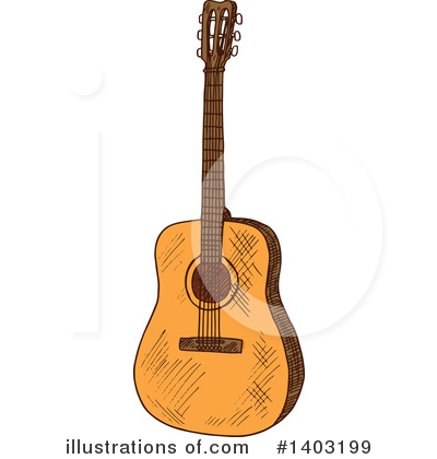 Guitar Clipart #1403199 by Vector Tradition SM