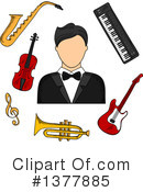 Musician Clipart #1377885 by Vector Tradition SM