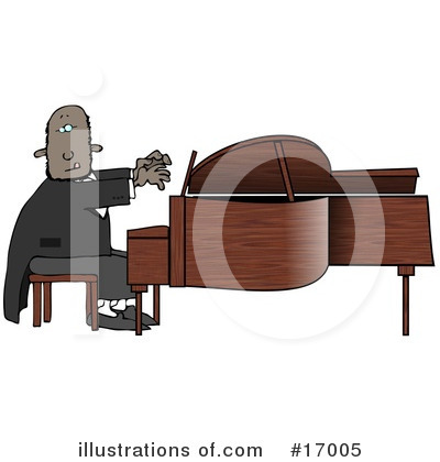 Royalty-Free (RF) Musician Clipart Illustration by Dennis Cox - Stock Sample #17005