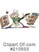 Royalty-Free (RF) Musician Clipart Illustration #210503