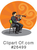 Royalty-Free (RF) Musician Clipart Illustration #26499