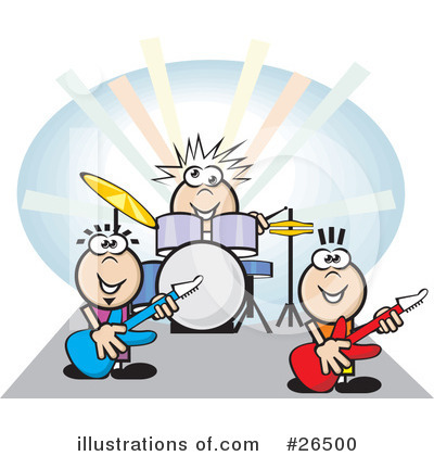 Royalty-Free (RF) Musician Clipart Illustration by David Rey - Stock Sample #26500