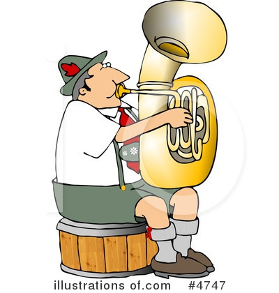 Royalty-Free (RF) Musician Clipart Illustration by djart - Stock Sample #4747
