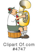 Royalty-Free (RF) Musician Clipart Illustration #4747
