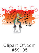 Royalty-Free (RF) Musician Clipart Illustration #59105
