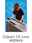 Royalty-Free (RF) Musician Clipart Illustration #95849