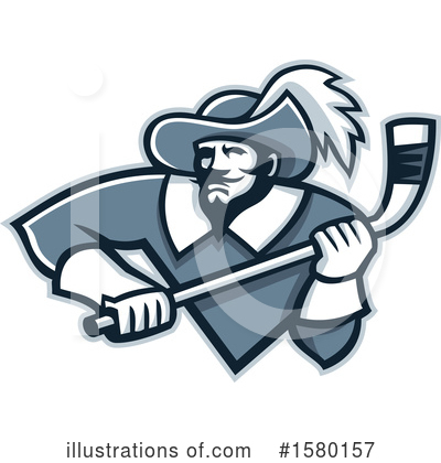 Royalty-Free (RF) Musketeer Clipart Illustration by patrimonio - Stock Sample #1580157