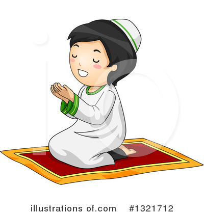 Praying Clipart #1321712 by BNP Design Studio