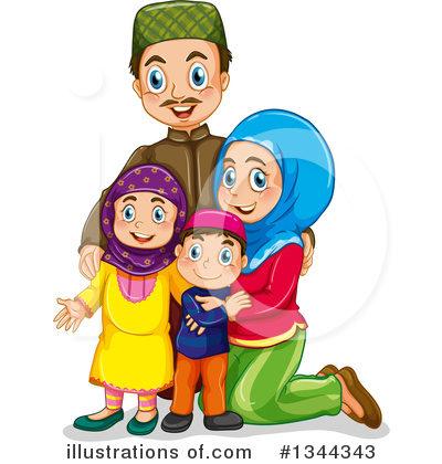 Family Clipart #1344343 by Graphics RF