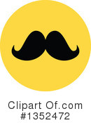 Mustache Clipart #1352472 by BNP Design Studio