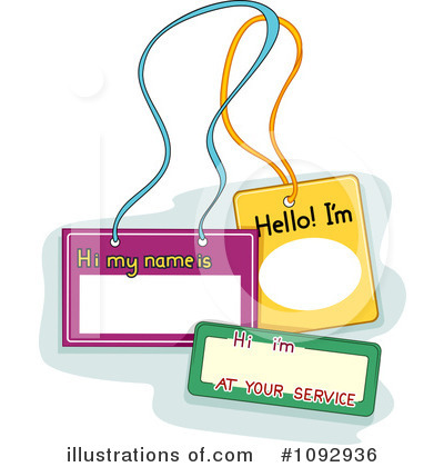 name tags clipart 1092936 illustration by bnp design studio rh illustrationsof com name badge clip art free name tag clip art free
