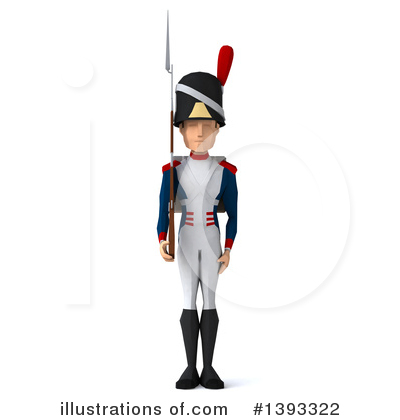 Royalty-Free (RF) Napoleonic Soldier Clipart Illustration by Julos - Stock Sample #1393322