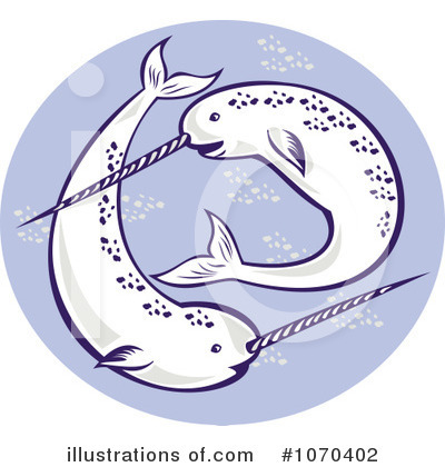 Narwhal Clipart #1070402 by patrimonio