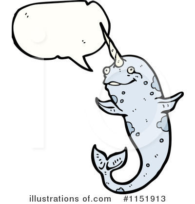 Narwhal Clipart #1151913 - Illustration by lineartestpilot