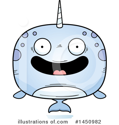 Narwhal Clipart #1450982 by Cory Thoman