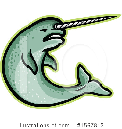 Royalty-Free (RF) Narwhal Clipart Illustration by patrimonio - Stock Sample #1567813