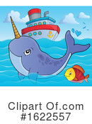 Narwhal Clipart #1622557 by visekart