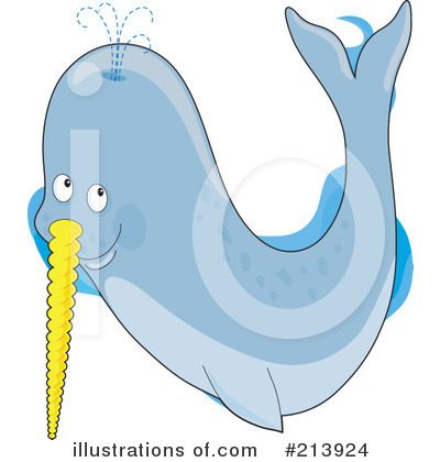 Narwhal Clipart #213924 by Maria Bell