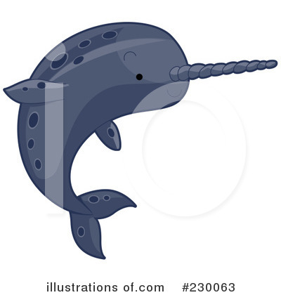 Narwhal Clipart #230063 by BNP Design Studio