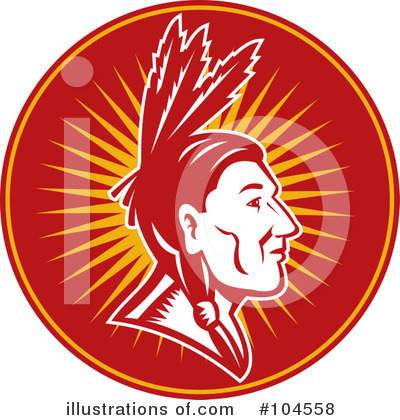 Native American Indian Clipart #104558 by patrimonio