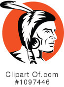 Native American Clipart #1097446 by patrimonio