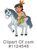 Royalty-Free (RF) Native American Clipart Illustration #1124546